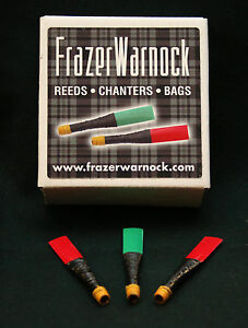 Frazer-Warnock-Two-Red-Practice-Chanter-Reeds-for-Highland-Bagpipe-pipes