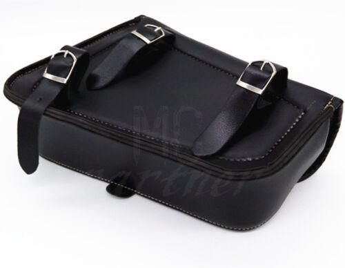 PU Leather Left Right Saddlebag Saddle Bag For Harley Sportster XL 883 XL 1200