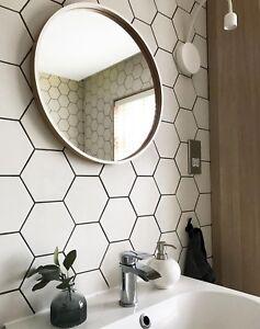 Image Is Loading Tile Sample Pura Satin White Hexagon Porcelain Wall