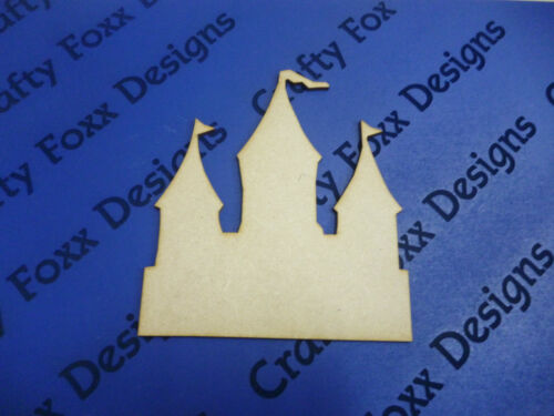 4 x Wooden mdf Princess //Prince Castle Plaque shape