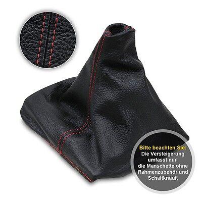 Schaltsack Schaltmanschette für Seat Ibiza 4 2002-2009 Echtes Leder rote Faden