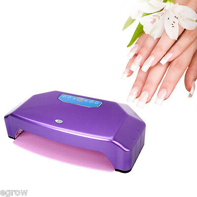 35W Professional Nail Art Gel polish LED Lamp Light Dryer for two hands purple