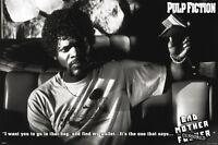 Samuel L Jackson Pulp Fiction Tarantino Badass Poster Licensed Rare Poster
