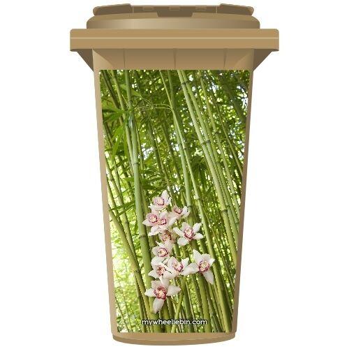 FLOWERING BAMBOO TREE WHEELIE BIN STICKER PANEL