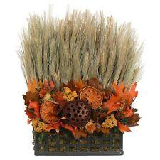 FALL HARVEST.....Dried Flowers Thanksgiving Floral Table Centerpiece Arrangement