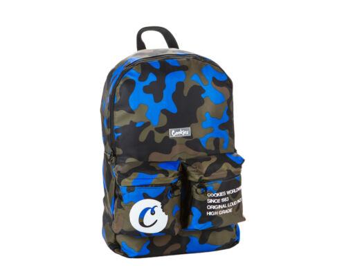 Cookies Orion Canvas Smell Proof Blue Camo Backpack 1546A4415-BLC