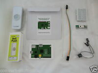 Internet Doorbell (white) project kit for Raspberry Pi.  Internet of Things IoT.