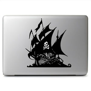 Glowing Skull Pirate Ship For Macbook Laptop Car Window