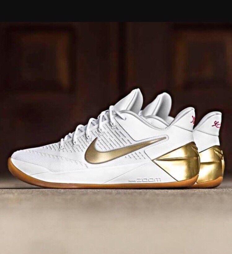 Nike Kobe 12 A.D. EP XII White Metallic Gold Olympic Big Stage 852425-107 Sz 10