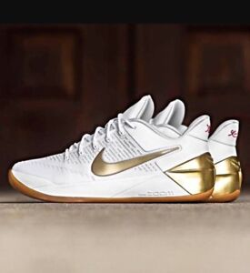 newest b1694 252d5 Image is loading Nike-Kobe-12-A-D-EP-XII-White-Metallic-