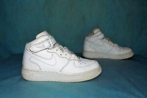 Details about Sneakers High-Top Nike Air Force 1 Leather White P 36,5 Fr  Very Good Condition