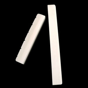 Natural Bone Guitar Bridge Saddle and Nut Slotted for 6 String Classical Guitar