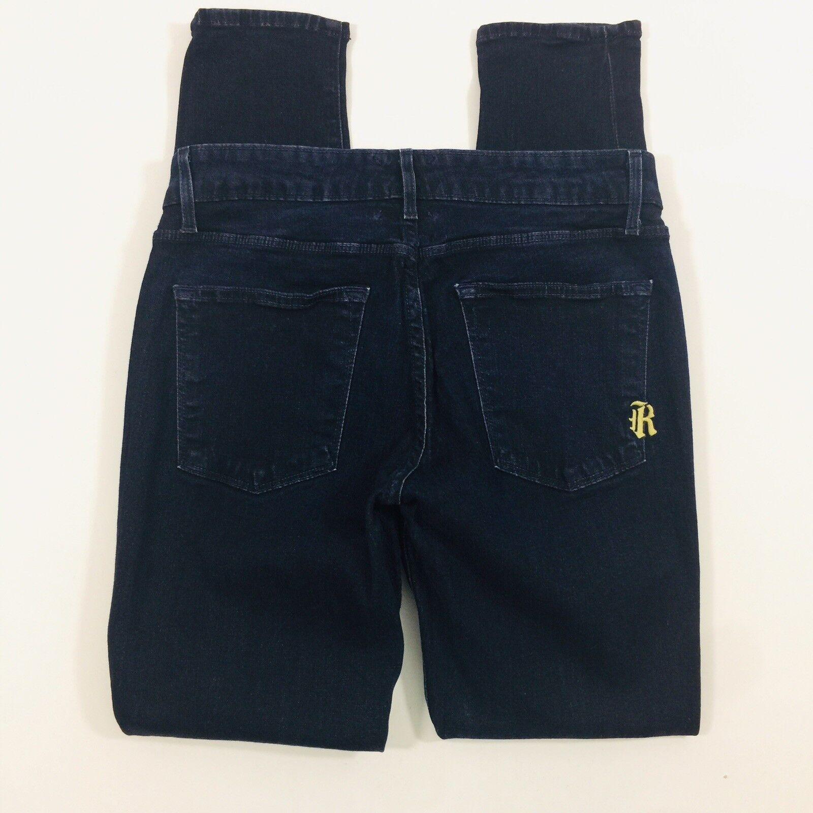 Rich & Skinny Nordstrom Womens size 30 Skinny Fit Dark Wash Cut A767Jeans