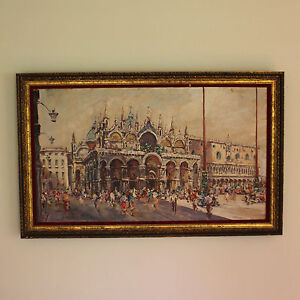 Impressionistic-Oil-on-Canvas-Painting-of-St-Mark-s-Square-Venice