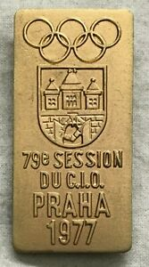 International-Olympic-Committee-Prague-79th-Session-Badge-1977