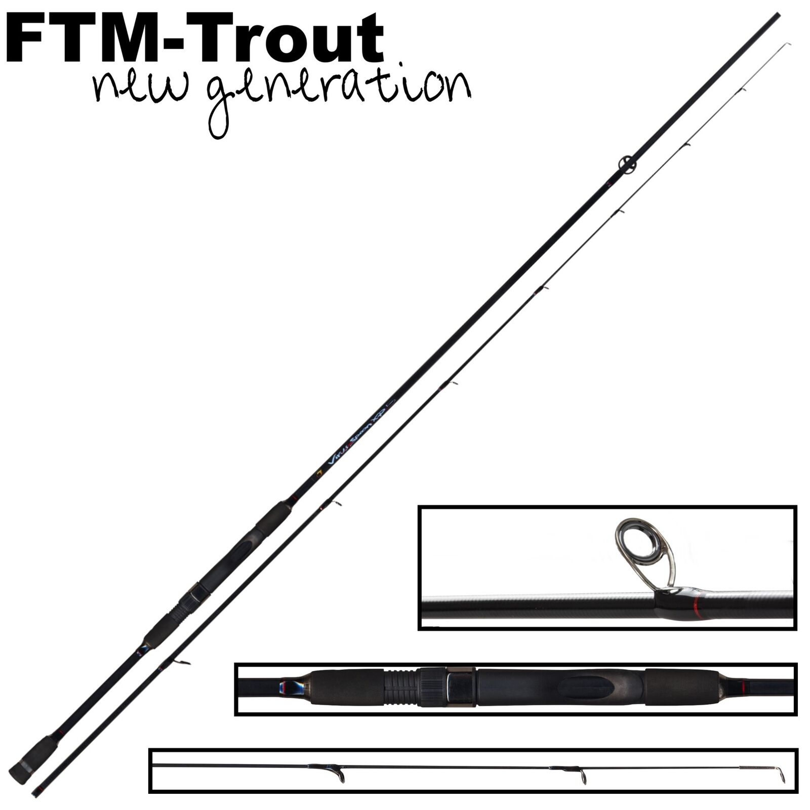 FTM Virus Spoon XP 5 2,40m 1-6g - Spinnrute, Forellenrute, Blinkerrute