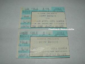 2 Jimmy Buffett Ticket Stub Lot 1992 Garden State Arts