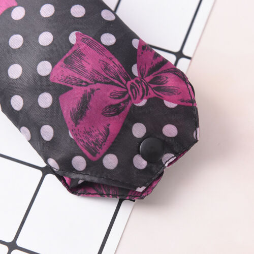 creative women foldable handy shopping bag reusable tote pouch recycle handbag D