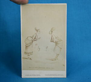 Details About Scarce 1870s CDV Not So Very Different After All Caricature Carte De Visite