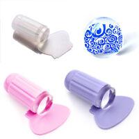 Neu Klar Jelly Nail Art Stamping Stamper & Scraper Nagel Stempel Nageldesign Set