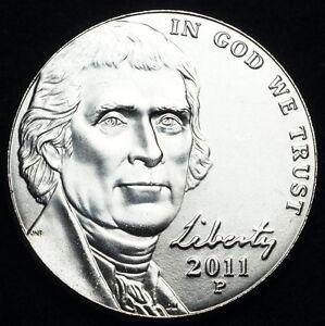 ORIGINAL BANK ROLL OF BU 2011-P JEFFERSON NICKELS!!!