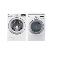 Lg Wm3270cw/dle2250w 27 White Washer Electric Dryer Laundry Set Deal 1