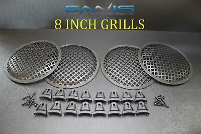 1 8 INCH Steel Speaker SUBWOOFER Grill MESH Cover W//Clips Screws GLKT-8