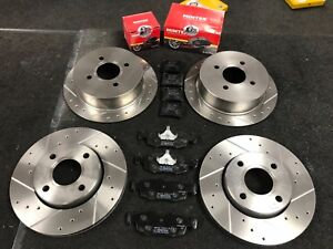 FOR-FORD-ESCORT-MK5-6-1-8-RS2000-DRILLED-GROOVED-BRAKE-DISC-MINTEX-PADS