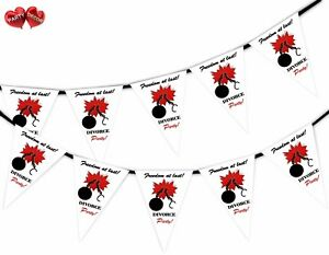 Divorce-Party-Bunting-Banner-15-flags-Broken-Chain-by-Party-Decor