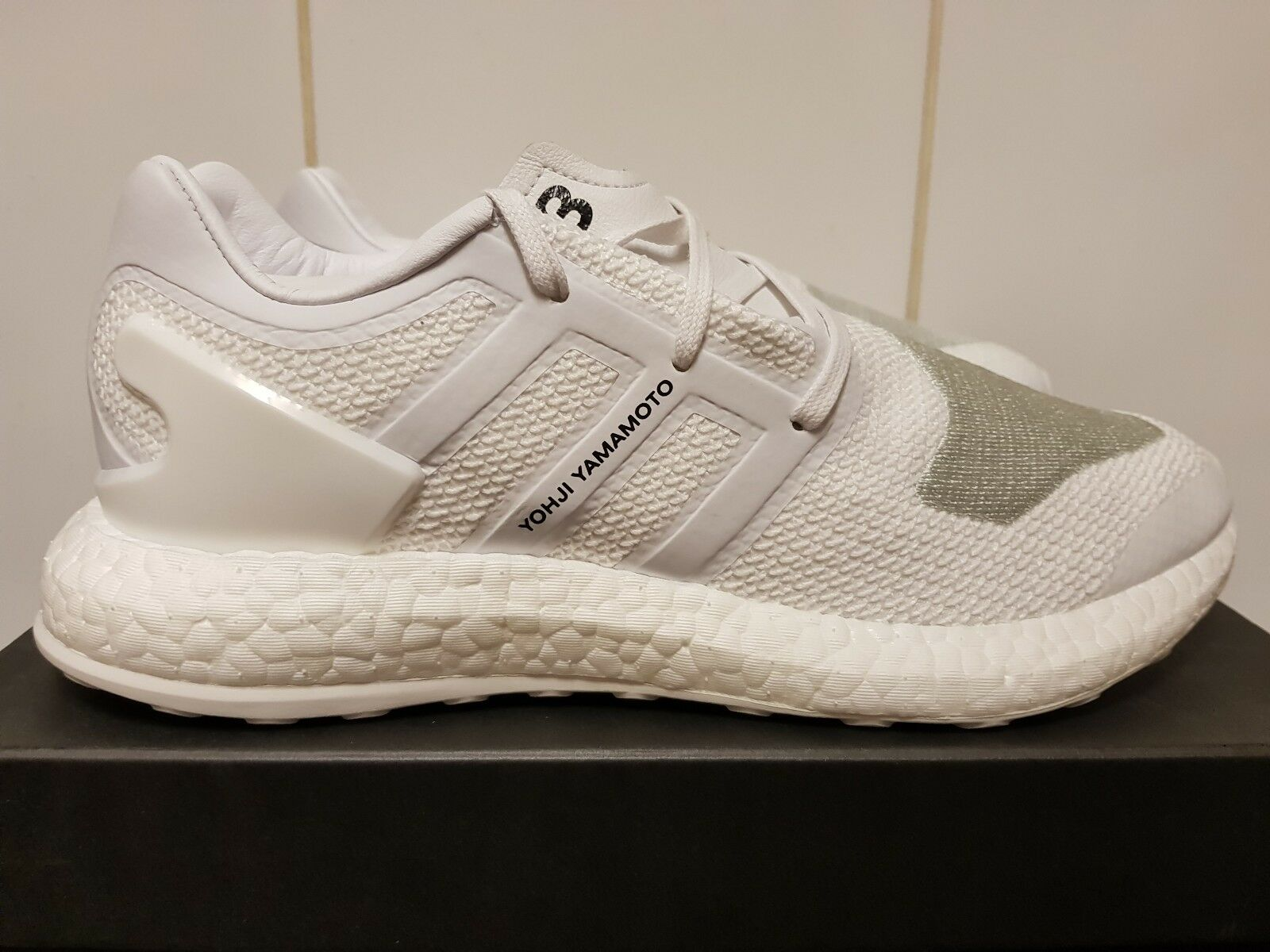 Adidas Y-3 Pureboost ZG Knit Blanc Triple Y3 BY8955 UK 6 US 6.5 Pure Boost