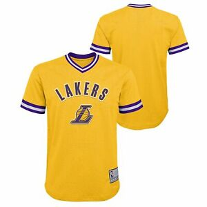 Details about Outerstuff NBA Youth Boys (8-20) Los Angeles Lakers Tackle Twill Mesh Top, Gold