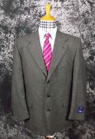 Mens 44r Uomo Ungaro Paris 100% Wool 3 Button Suit Coat Blazer