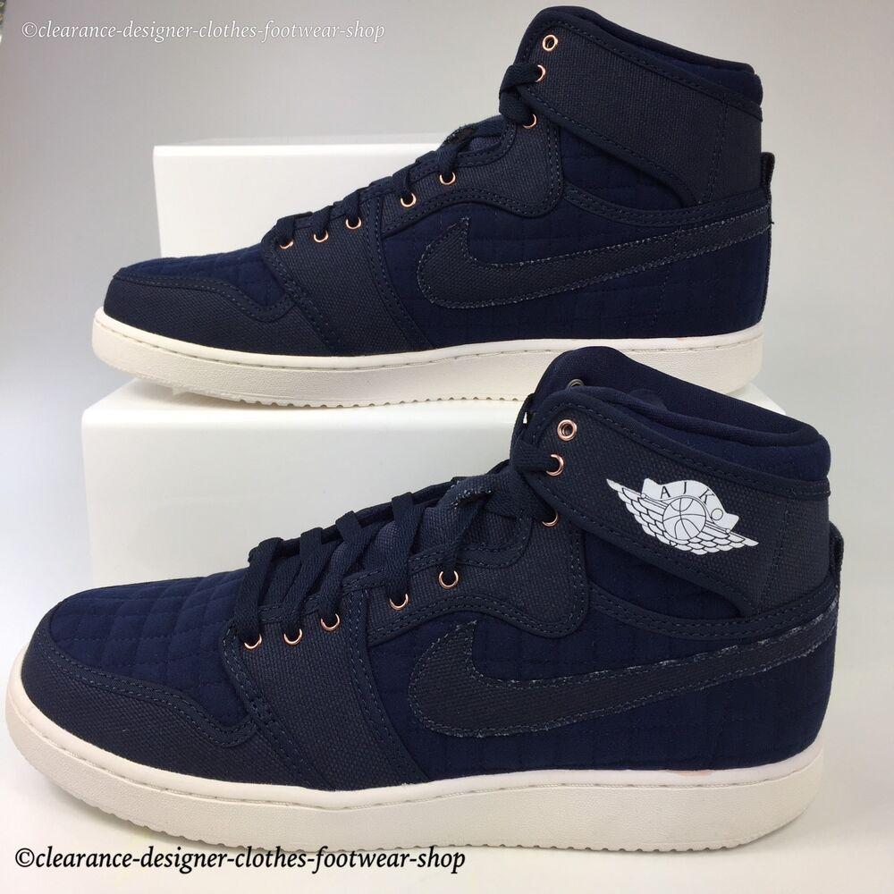 NIKE AIR JORDAN 1 KO High Retro OG Baskets Pour Homme Original Obsidian Chaussures UK 10-