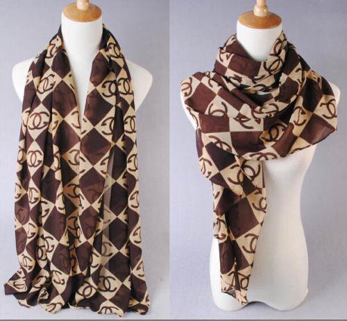 Fashion Women Lady Long Print Chiffon Neck Scarf Scarves Wrap Stole Shawl UK