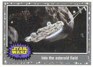 2015 Star Wars Viaje A La Fuerza despierta Plata # 48 En El Asteroide Campo