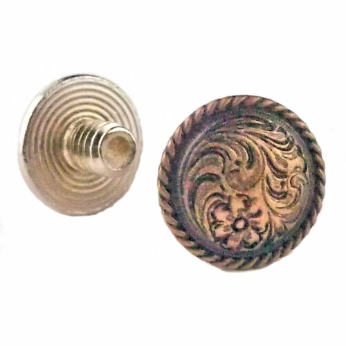 "Chicago Screws Concho Antique Copper 3//16/"" 10 Pack 3305-28 by Stecksstore"