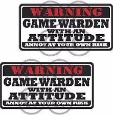 "2 - 3"" Gamewarden Warning Tools Motorcycle Decal Hard Hat Sticker WS1"