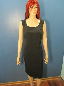 Details about plus size 18W black zip up sheath dress by JULIAN TAYLOR