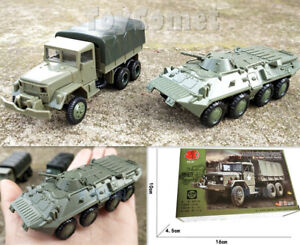 2-pcs-US-M35-Cargo-Truck-Models-amp-BTR-80-Armored-Personnel-Carrier-Model-Kits