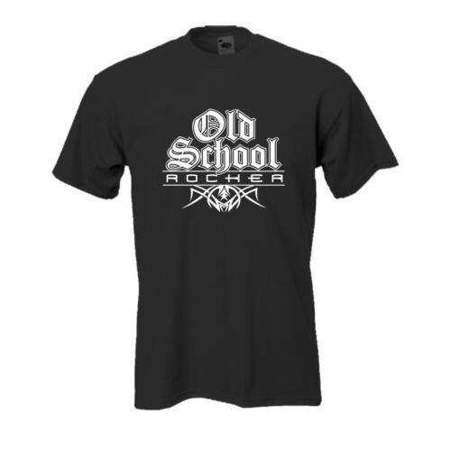 BL099 lustige Sprüche große Größen Old School Rocker cooles Funshirt