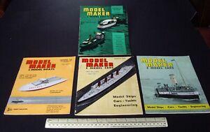 1964 Vintage Model Maker Magazine x 4 Ships Cars Yachts Adverts Engineering #13