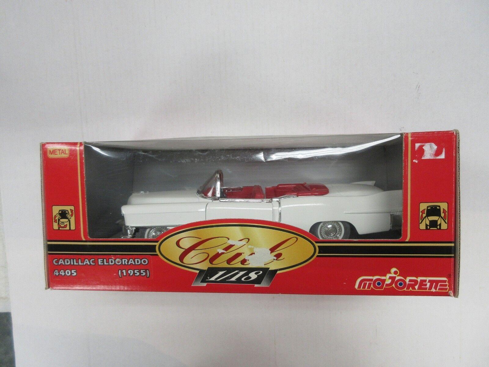 MAJORETTE CLUB 1 18 SCALE 1955 CADILLAC ELDORADO 4405 CAR W  BOX
