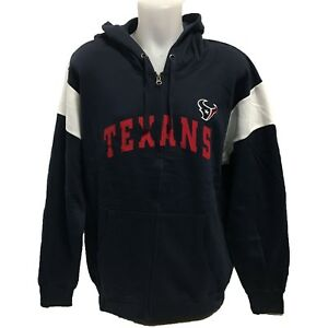 a3491871 Details about NFL Men's Houston Texans Zipper Hoody Sweatshirt XL Football  Hoodie Navy Blue
