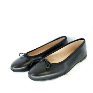 Gallucci-Ladies-Shoes-Ballerinas-Black-Ledere-round-Bow-Flat-Np-169-New