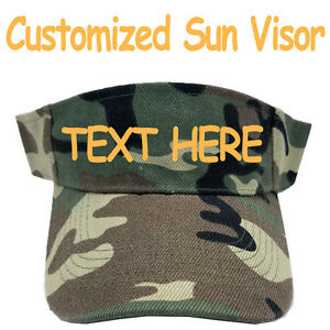 Details about Personalized Sun Visor Cap Hat Camo Camouflage Army Military  Print Pattern