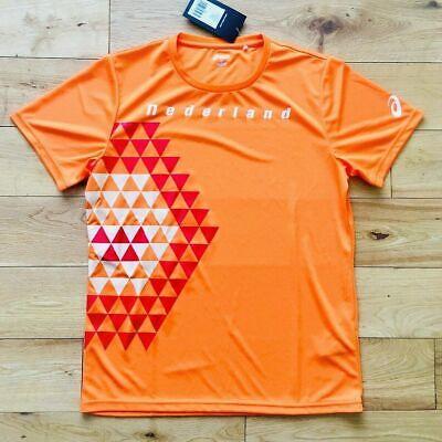 Asics Maschile Dei Paesi Bassi 2018 In Esecuzione Di Formazione Top Shirt Nuova A17c22 Nuovo Tutte Le Taglie-mostra Il Titolo Originale Materiali Superiori