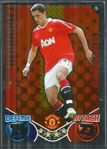 TOPPS MATCH ATTAX 2010-11- #213-MANCHESTER UNITED & MEXICO-JAVIER HERNANDEZ-FOIL