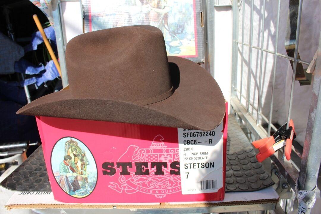37-2 Gloednieuw Stetson 6X Beaver 7 gemaakt in de VS Western hat bruin