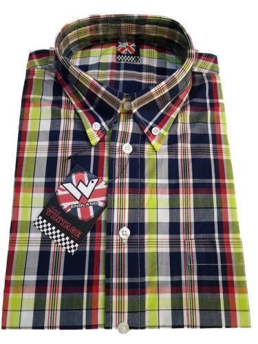 Warrior UK England Button Down Shirt CRAIG Hemd Slim-Fit Skinhead Mod