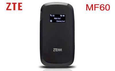 Unlocked ZTE MF60 HSPA+ 21M 3G Wireless Router WiFi Mobile Hotspot Broadbrand